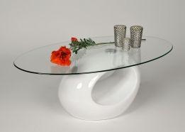 ovale salontafel hoogglans