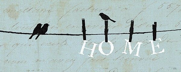 primative  Bird Theme | Birds on a Wire Home by Alain Pelletier Blue Sign Laundry Room Décor ...