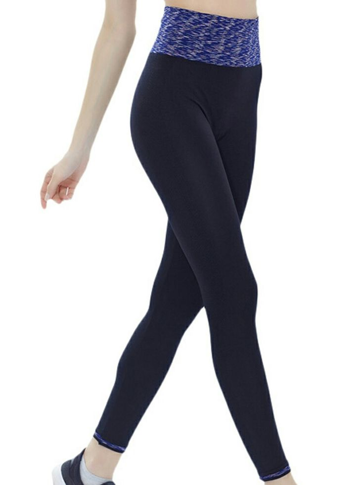 Women Sports Ninth Leggings Patchwork Quick Dry Running Yoga Fitness Pants Leggi - Athletic Apparel