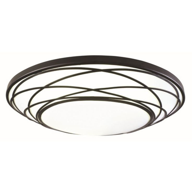 Shop Portfolio 19 In W Black Led Ceiling Flush Mount At Lowes Com