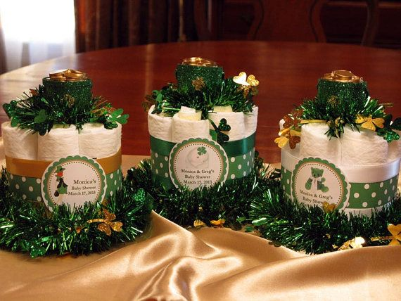 St Patricks Irish Shamrock Leprechaun Mini Diaper By