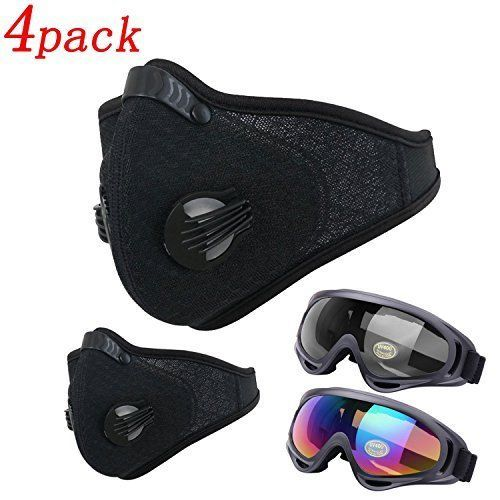 4 Pack Dustproof Mask Activities Safety Carbon Glasses Exhaust Gas Allergy Mask #Dustproofmask
