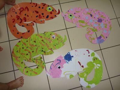 The Homeschool Den: Chameleon Craft (Animal Habitat Unit)