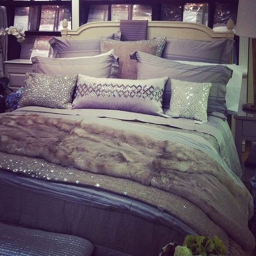 Sparkle pillows and throw...for our new bedroom...when I get it.