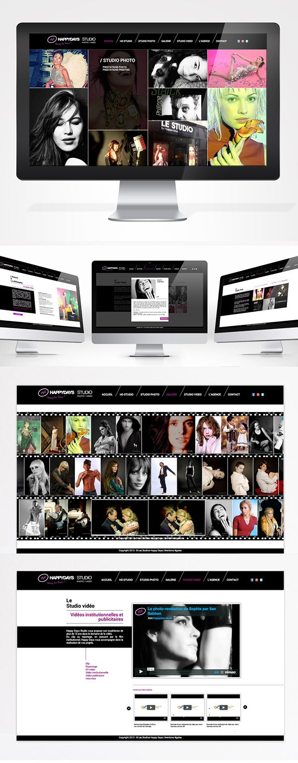 Le studio by Happy Days Webdesign on Behance Webdesign for a photographer's studio.  Clean & Minimalist website.  Photography webdesign.