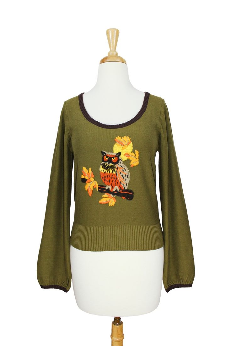Autumn Owl Sweater by Knitted Dove :: $77.99 Breathes autumn air into my soul!  http://evermicrush.com/autumn-owl-sweater-by-knitted-dove.html