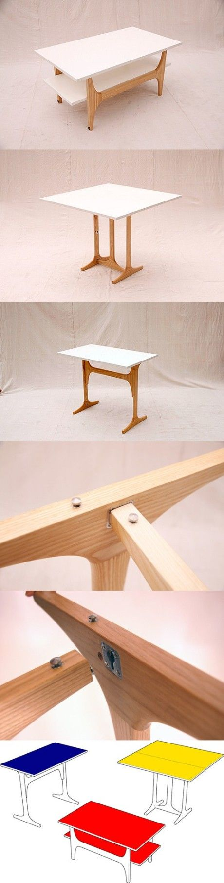 "[DIY] ""3Style"" multifunctional table, another smart furniture that save space and money"