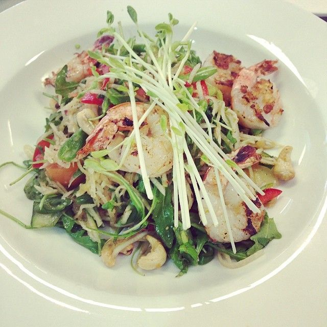 Green Papaya Salad with Prawns at Paleo Cafe Cairns