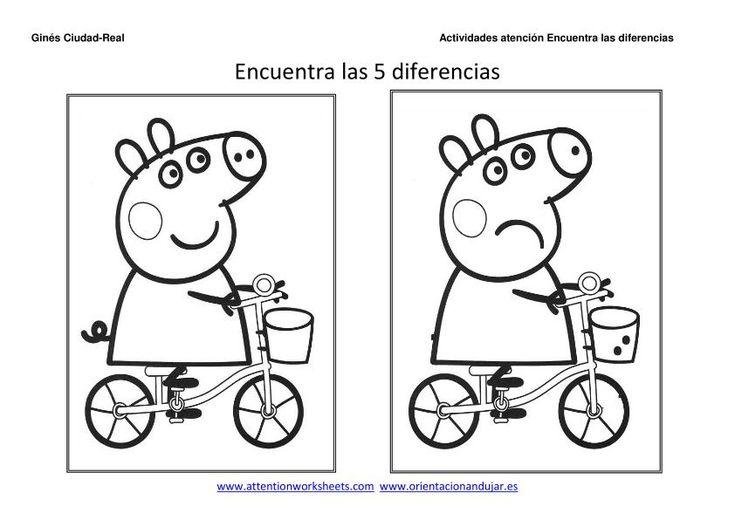 Encuentra las diferencias con dibujos animados, este es un ejercicio para potenciar la percepción visual y la atención en los niños