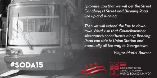 Muriel Bowser promises to finish the DC streetcar from Georgetown to Ward 7 - Greater Greater Washington