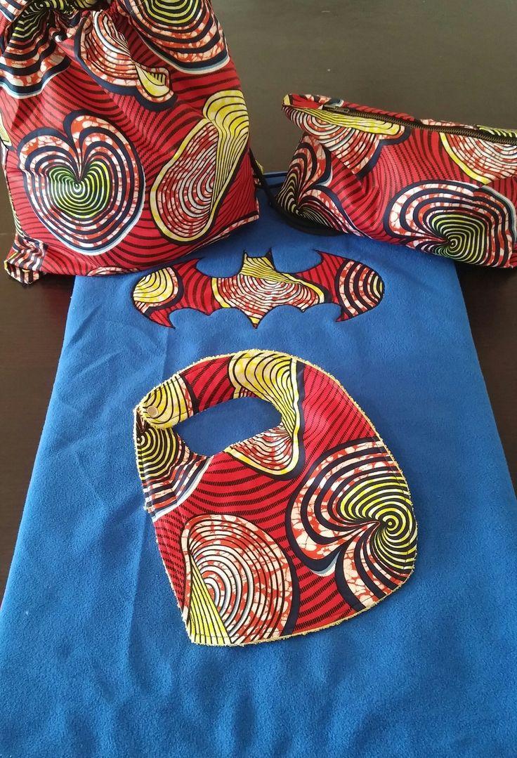 Tapis à Langer, Bavoir, Trousse Wax Africain : Puériculture par tidi-wax