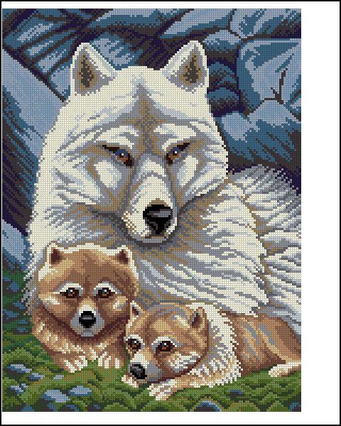 Cхемы скачать схему чарівна мить белые волки