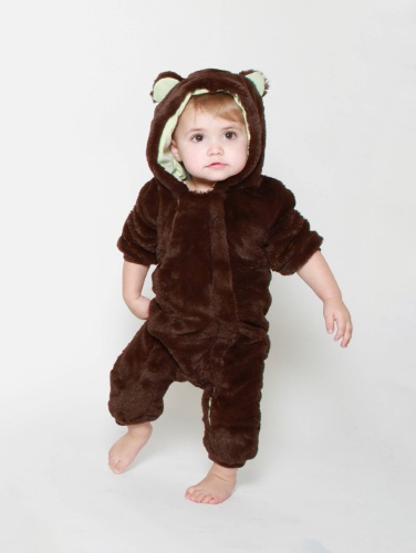 Spirithoods Baby Romper Brown Bear - or as we like to call it the baby Ewok suit!