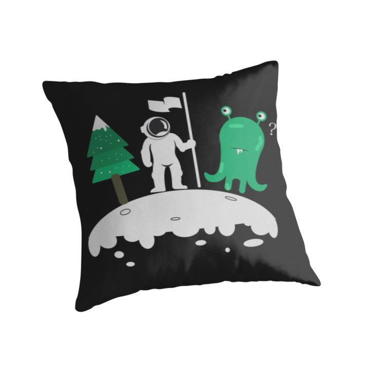 Christmas In Another Planet by Linecircle Co #christmas #planet #astronaut #xmas #alien #monster #redbubble #linecircle #LinecircleApparel