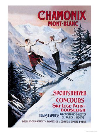 I bought this poster when we bought our condo, which is named Chamonix. It cracks me up, but it's also just a great vintage poster.