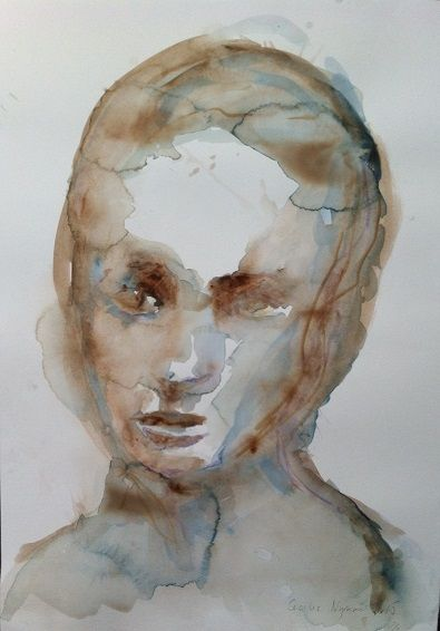 W1, watercolor by Cecilie Nyman