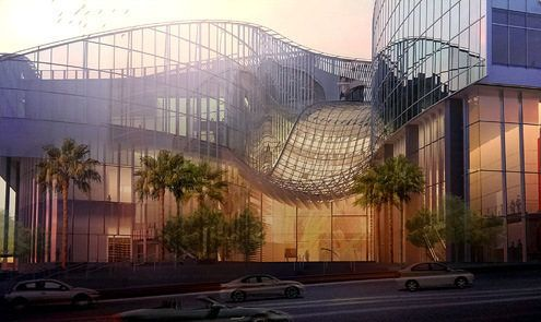 New Wilshire Grand Renderings Show Sky Lobby And The Highest Rooftop Pool On The West Coast