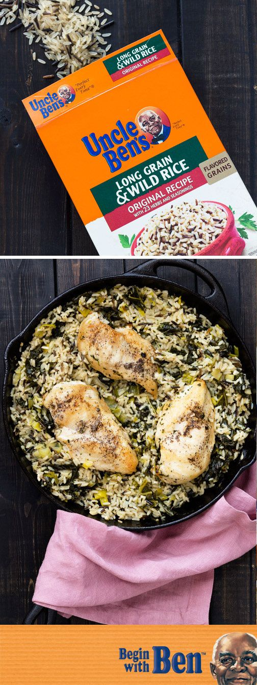 Ready in just 30 minutes, this Skillet Chicken and Wild Rice with Leeks and Kale makes it easy to add delicious flavor to your dinner table! Complete with Uncle Ben's® Long Grain & Wild Original Recipe, this meal idea can be ready for your family with just a few easy steps. Plus, you can find all the essential ingredients you need at for this dish Kroger.