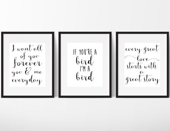 PRINTED The Notebook Movie Quote Trio by AlbaMariePaperie on Etsy
