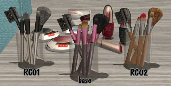 6 Makeup Brushes Set | My Sims 2 Clutter Spot
