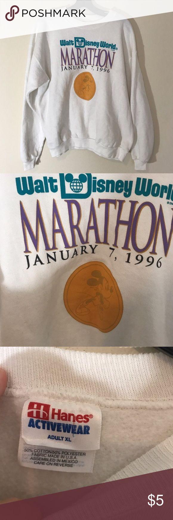 Spotted while shopping on Poshmark: Vintage Disney marathon pullover! #poshmark #fashion #shopping #style #Vintage #Tops