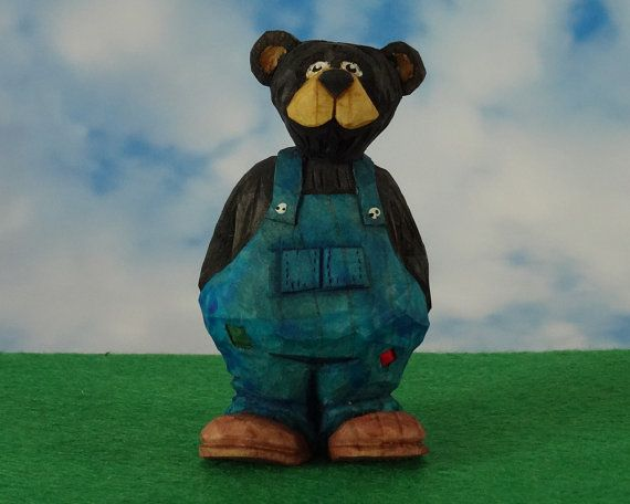 Barry the Bear Hand Carved Country Bear by TheWanderingWhittler, £16.50