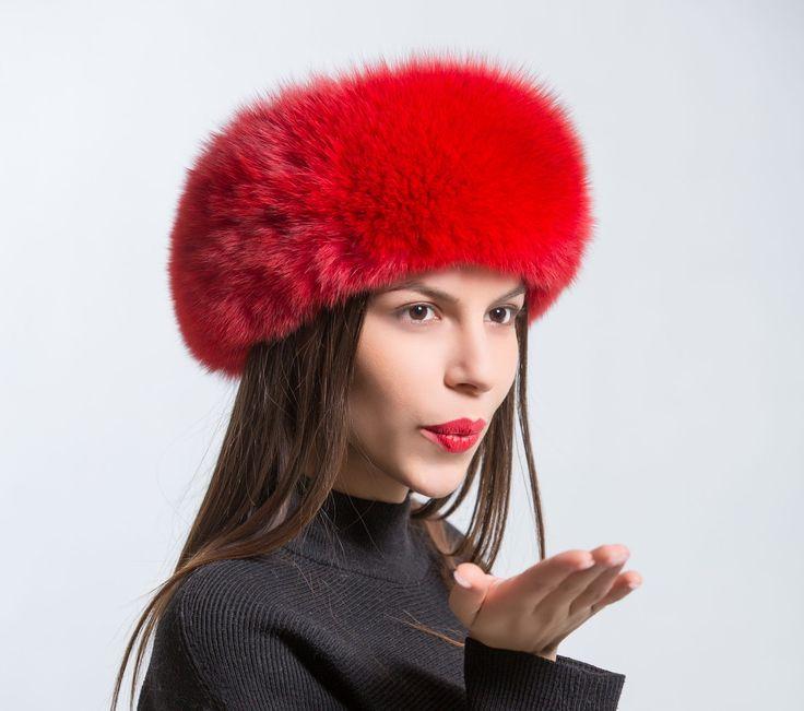 Red Fox Fur Headband     #red #fox #headband #winter #hat #furhat #realfur #haute #style #fashion