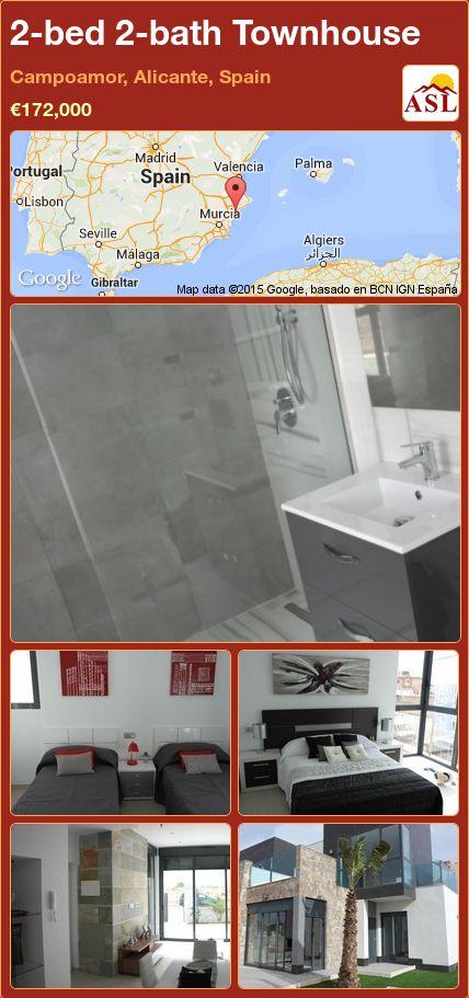 2-bed 2-bath Townhouse in Campoamor, Alicante, Spain ►€172,000 #PropertyForSaleInSpain