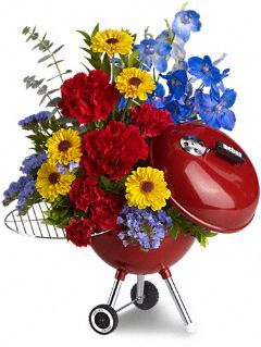 4th Of July Floral Centerpieces | Enter to win a 4th of July Floral Arrangement