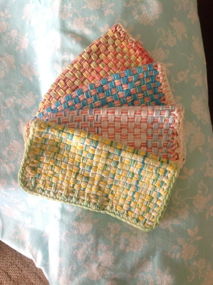 Washcloths Made From Martha Stewart Loom Craft Idea S Pinterest Martha Stewart