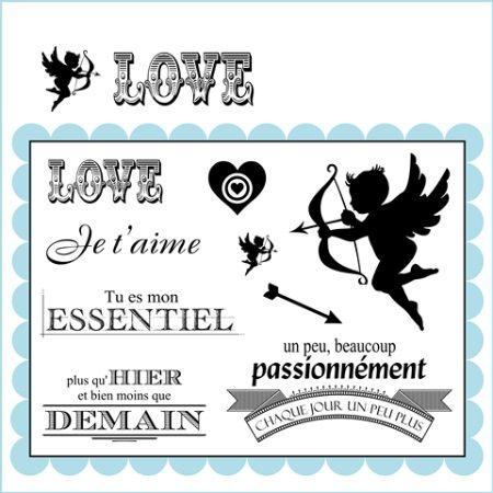 Tampons scrap la carte love amour cupidon a imprimer pinterest scrap - Idee scrapbooking amour ...