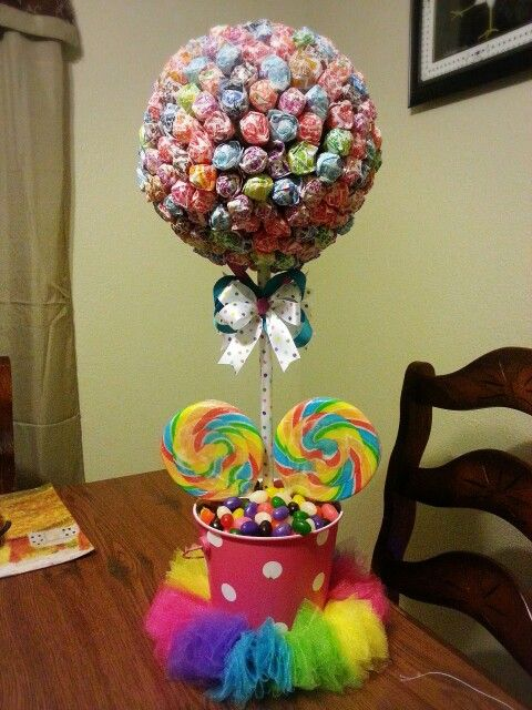Candyland Theme Centerpiece Diy Lollipop Tree Make It