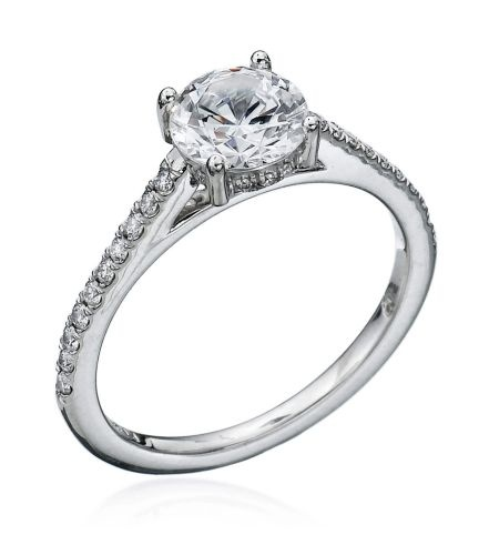 PROMISE COLLECTION PLATINUM PAVE DIAMOND SETTING BY MARK PATTERSON