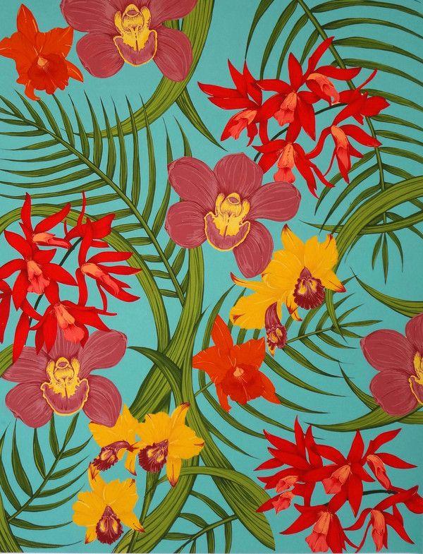 Tropical Orquids by Clara Serna, via Behance