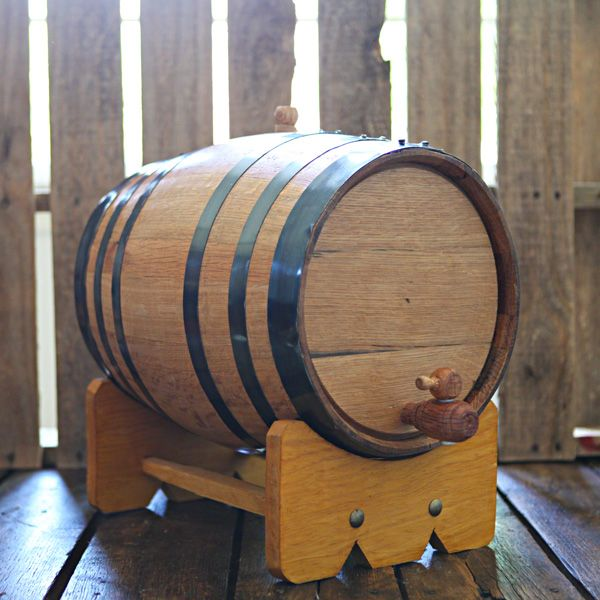 Handcrafted 20-liter Oak Barrel used to age your own beer, wine and liquor at home!  Add years of aging flavor in only weeks.  Age whiskey, bourbon, tequila, scotch, vodka, gin, hot sauce, vinegar, beer and wine!  Great for gifts, dad, grandfather, man room, man cave, home brewer, home distiller and wine maker.  Can be engraved for weddings & groomsmen gifts.  $159.99 at www.longhornbarrels.com
