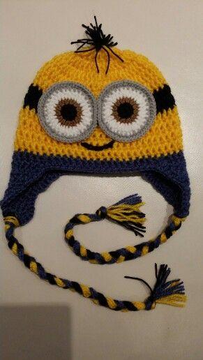 Szydełkowy Minionek-czapka / crochet minion hat