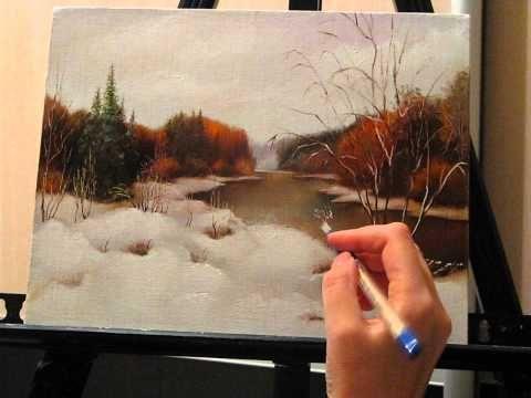 Уроки живописи маслом. Фламандская техника. Осенний пейзаж. Часть 3. - YouTube