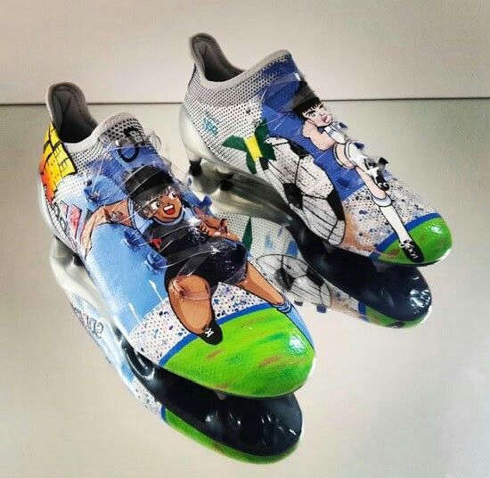 best sneakers 12fbb be940 Lukas Podolski shows off adidas x 17.1 Captain Tsubasa boots   adidas    Pinterest   Soccer Cleats, Captain tsubasa y Soccer