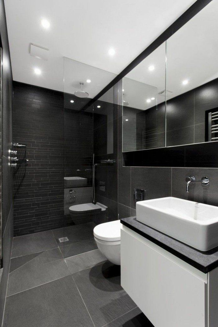 faience noire salle de bain, faience castorama