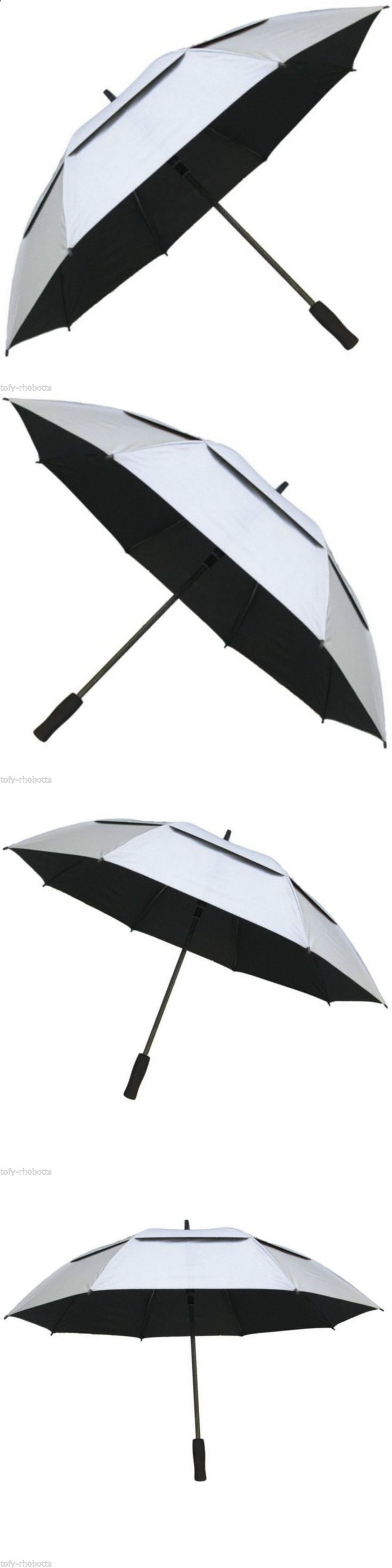 Golf Umbrellas 18933: Golf Umbrella 62 Inch Double Canopy Windproof Auto Open Silver Black Sport Park -> BUY IT NOW ONLY: $33.99 on eBay!