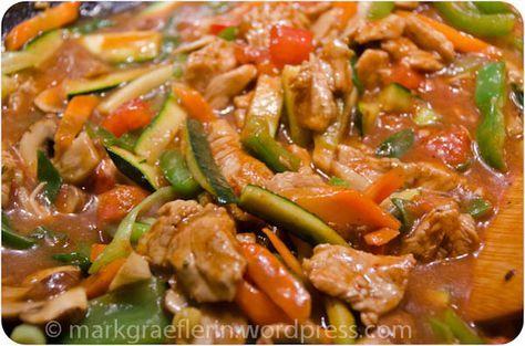 I like Chinese – Putengeschnetzeltes aus dem Wok mit viel Gemüse