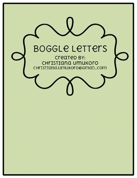 Just Print And Cut These Cute Cards To Complete Your Boggle Bulletin Board