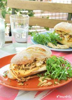 Pollo caliente y sándwich de brie con manzana   L & # 39; Exquisito   – Saladitoo