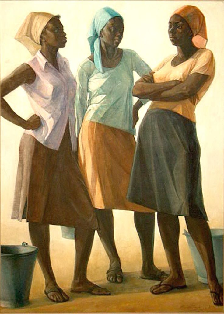 """Conversation"" by Jamaican artist Barrington Watson"
