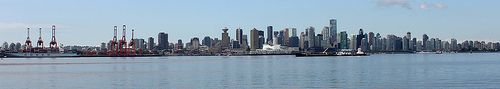 Downtown Vancouver from Lonsdale Quay North Vancouver BC