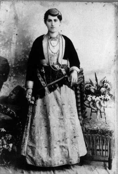 Traditional woman dress from North Anatolia -Turkey (Black Sea-Trabzon) beginning of 20th century