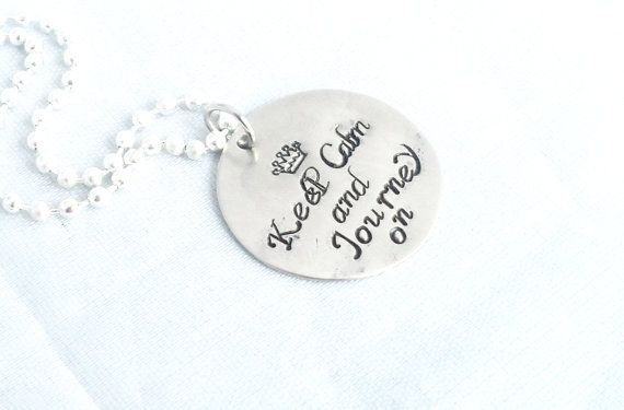 Hand Stampe Jewelry Graduation Gift Travel Gift by AGlassofHarmony, $10.00