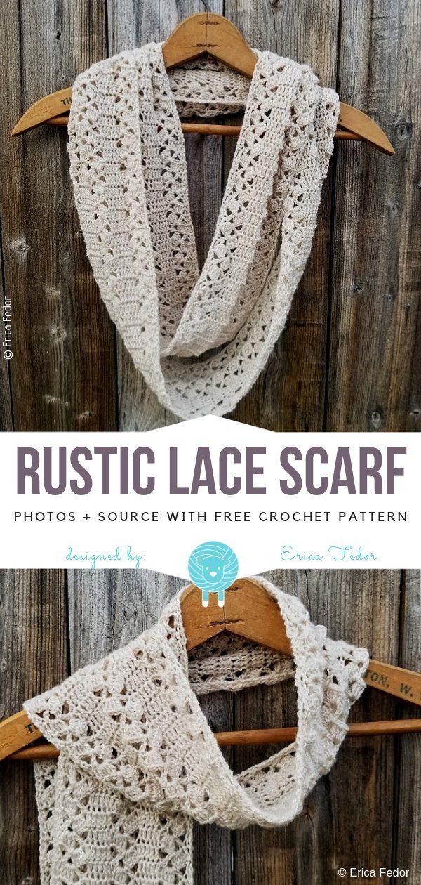 Elegant Lace Scarves Free Crochet Patterns