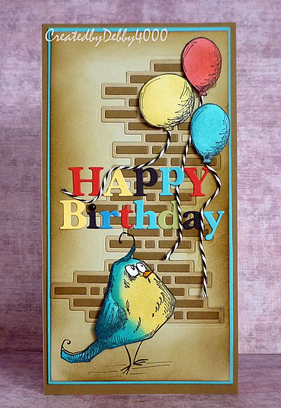 New challenge on Everybody Art this week is a Card for a Man and we all know how we love these.  Has you can see Tim Holtz Crazy Bird hel...
