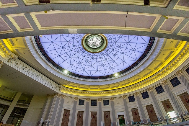 Over 8,500 LED lights will light the Main Auditorium dome following restoration. #brisbanecityhall